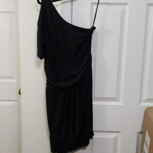 Cynthia steffe black one shoulder 8 dress